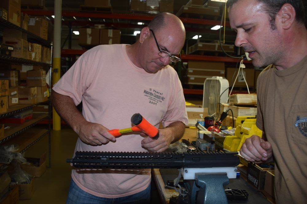 Author builds his own BCM EAG KeyMod carbine under watchful eye of a BCM master gunmaker.