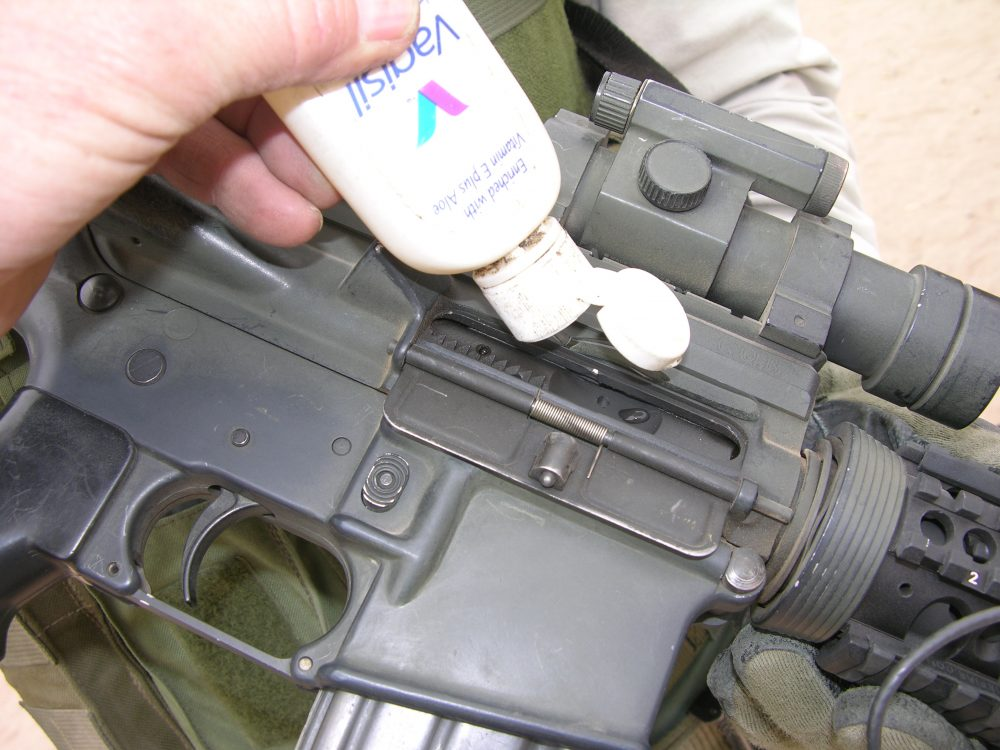 Drop of lube properly applied will get and keep the gun running.