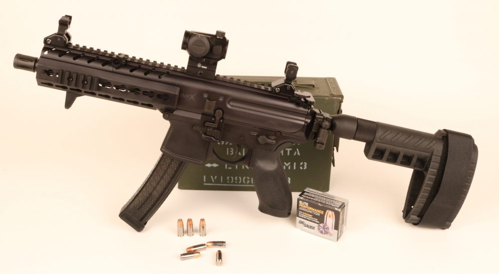 SIG MPX pistol equipped with their Pistol Stabilizing Brace
