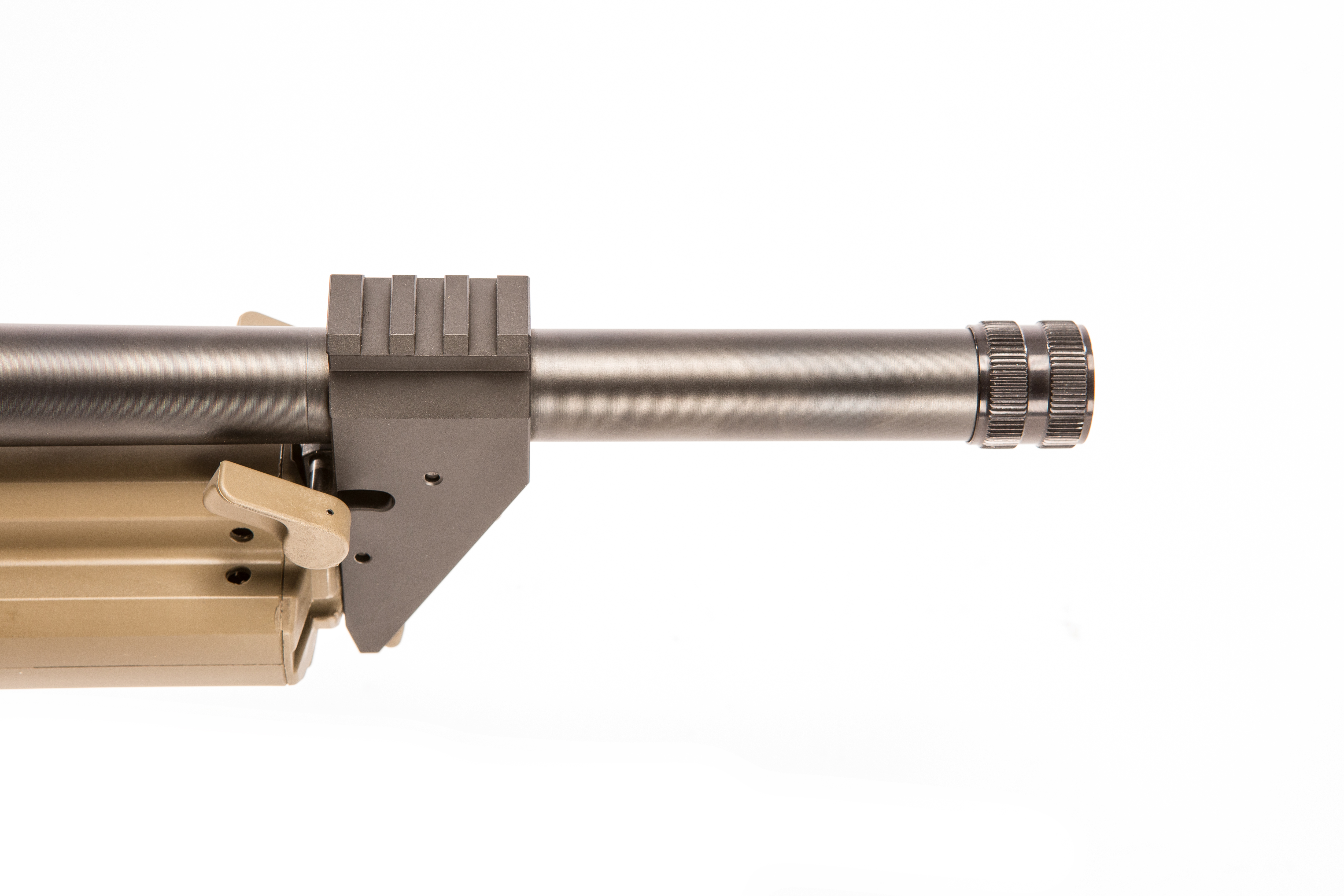 Shotgun comes standard with screw-on thread protector.