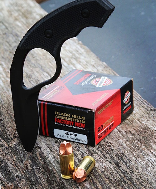 Black Hills HoneyBadger uses non-expanding machined copper bullets that are light for caliber at 135 grains and screaming at 1,250+ fps.