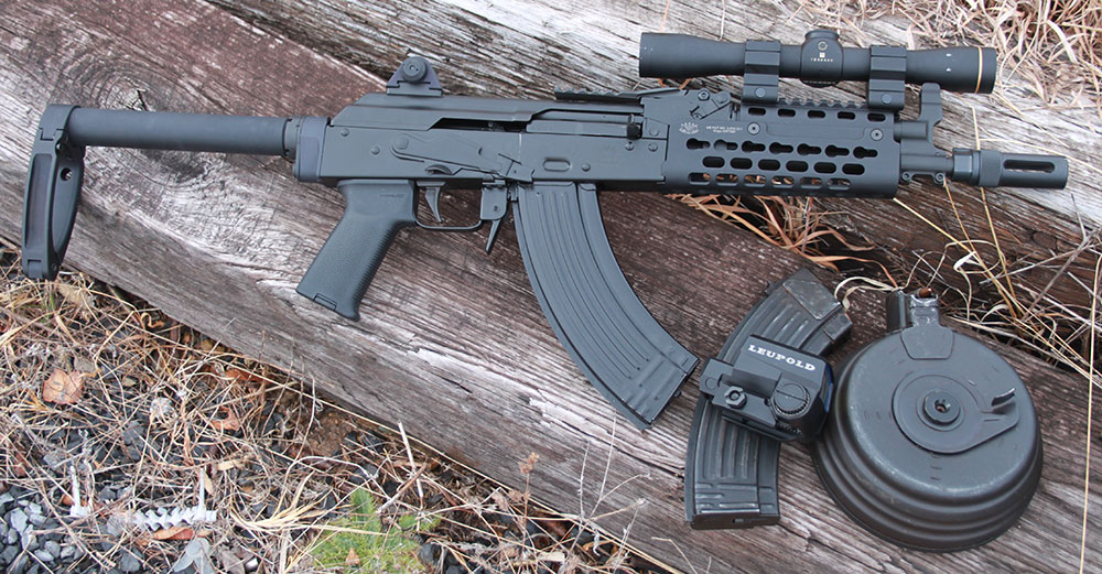 PD-18 AK pistol is latest offering from Krebs Custom. This genre of weapon can no longer be ignored and it is important to understand its specific nuances. Thanks to Krebs Custom modifications, mounting Leupold FX-II Scout IER 2.5x28mm scope or other forward-mounted optics is easy.