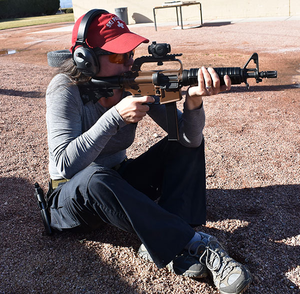 Shooting from sitting and supported at 50 yards, every hit was in the upper chest.