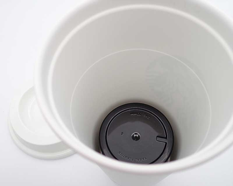 Buoyancy-defeating design of Covert Coffee prevents it from moving inside the cup or floating up to the surface. Water-tight device is made with food-grade plastic.