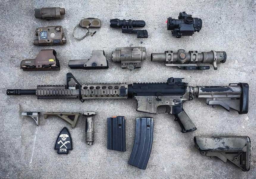 Building a clone can be very costly. Owner of this AR and Block II items spent just over $6,000 to get it all together.
