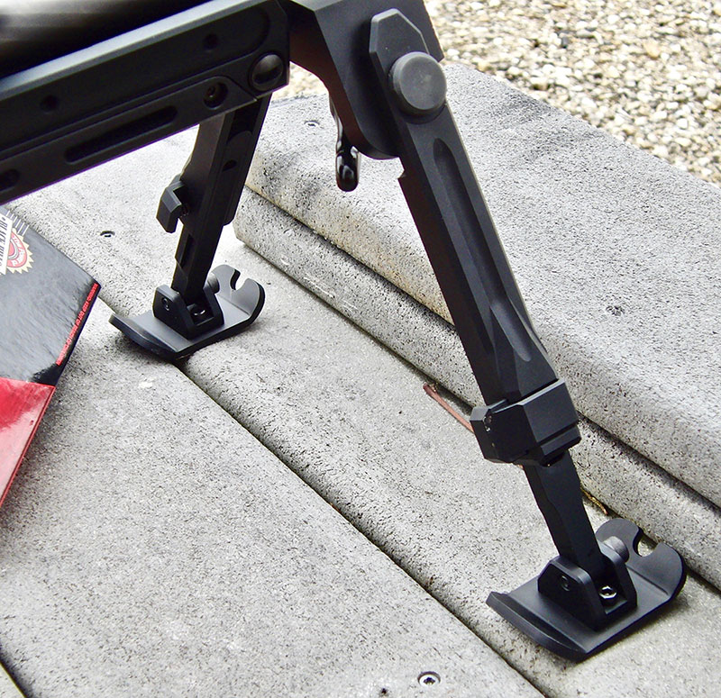 SSG 08's sturdy bipod is a true aid to accuracy.