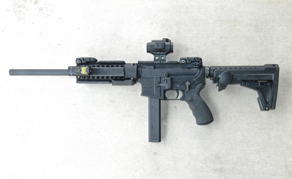 """9mm Hydra """"Barbie"""" as accessorized in text."""