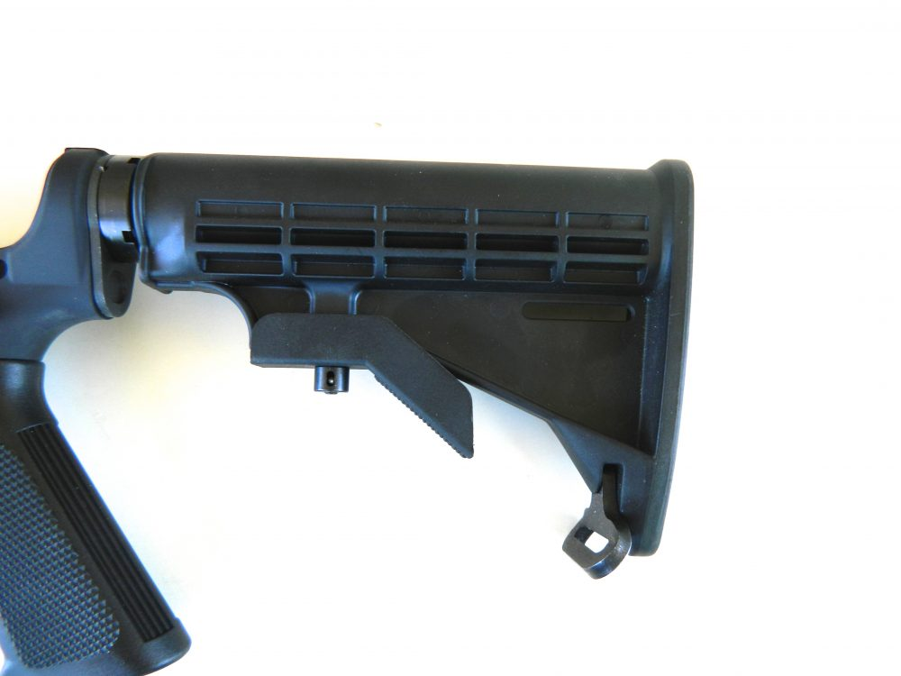 Carbine comes with an M4-type stock, but was replaced with Ergo Grips Pro Stock.