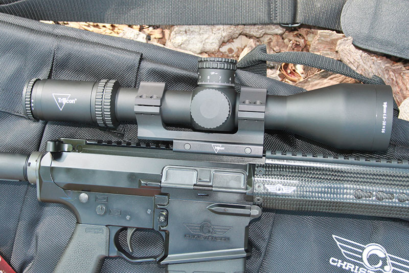 Trijicon Accupower optic with its wide 4.5-30X magnification range was an ideal choice for Christensen CA-10 G2 6.5 Creedmoor. Quality optic is an equal part of the accuracy triumvirate, along with rifle and ammunition. Trijicon Accupower was up to the challenge in wringing out full potential of 6.5 Creedmoor premium loads and Christensen CA-10 G2 rifle.