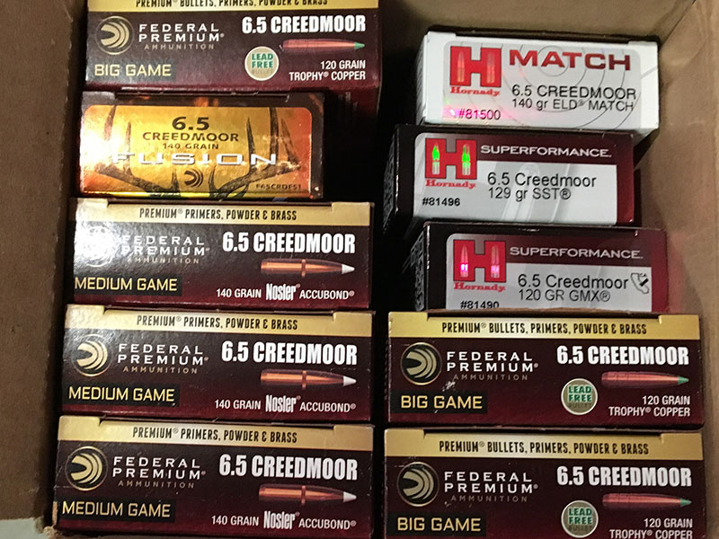 6.5 Creedmoor is well supported by various manufacturers. Hornady and Federal produce numerous offerings. These represent only a portion of 6.5 Creedmoor loads in their inventories.