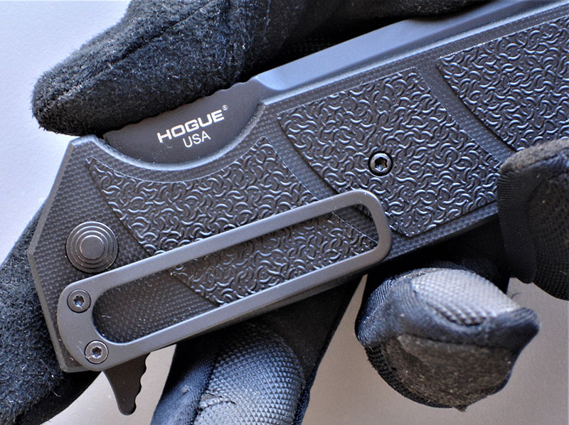 HK Karma has ambidextrous four-position flatwire pocket clip that allows for right- or left-side tip-up or tip-down carry.