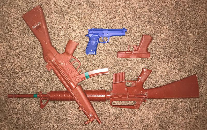 Inert plastic guns can teach basic weapon handling skills.