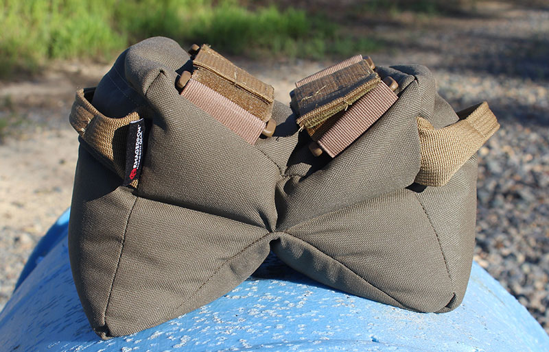 Made from 1000D Cordura and filled with almost five pounds of pelletized-polymer fill, Game Changer's unique shape allows the bag to mold around objects. Adjustable straps let you attach it to the front of most rifles.