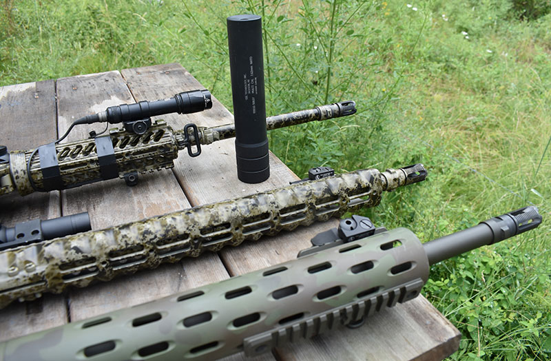 Colt 5.56, .300 Blackout, and Colt .308 all accept GSL Multi Cal suppressor.