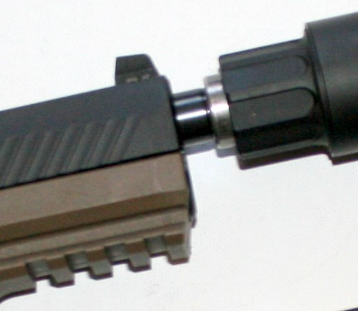 End cap protects threads on barrel when suppressor is not attached.
