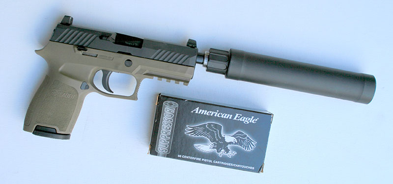 """Only subsonic load used below 147 grains was American Eagle 124-grain """"Suppressor"""" round."""