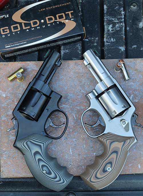 Dave Laubert of Defensive Creations created a matched pair of his vision of an ideal defensive carry revolver: two highly custom three-inch K-Frame .38s.