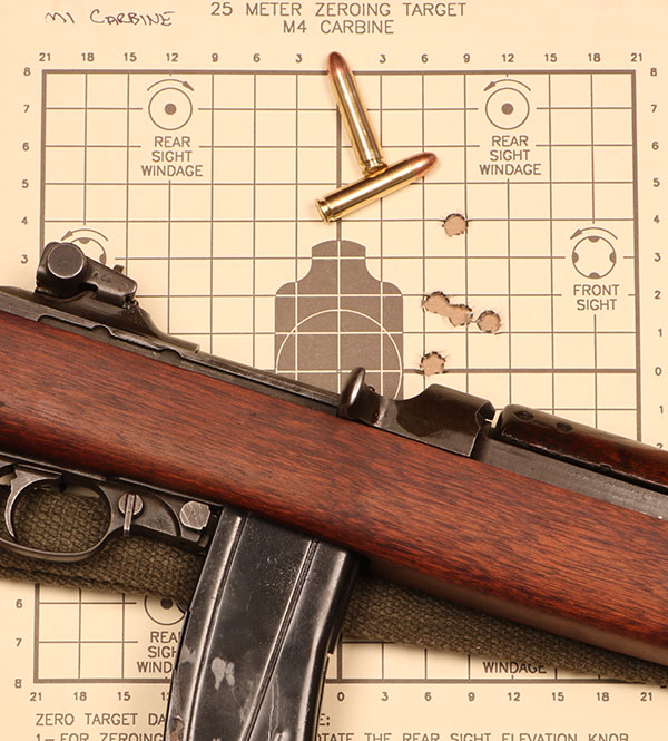 Although this particular Carbine is more than 70 years old, it still rendered decent combat accuracy at 25 meters, a typical engagement range for such a defensive rifle.