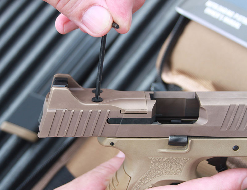 FN Low Profile Optics Mounting System (LPOMS) arrives with well-done directions on how to configure the slide properly for a variety of red dots.