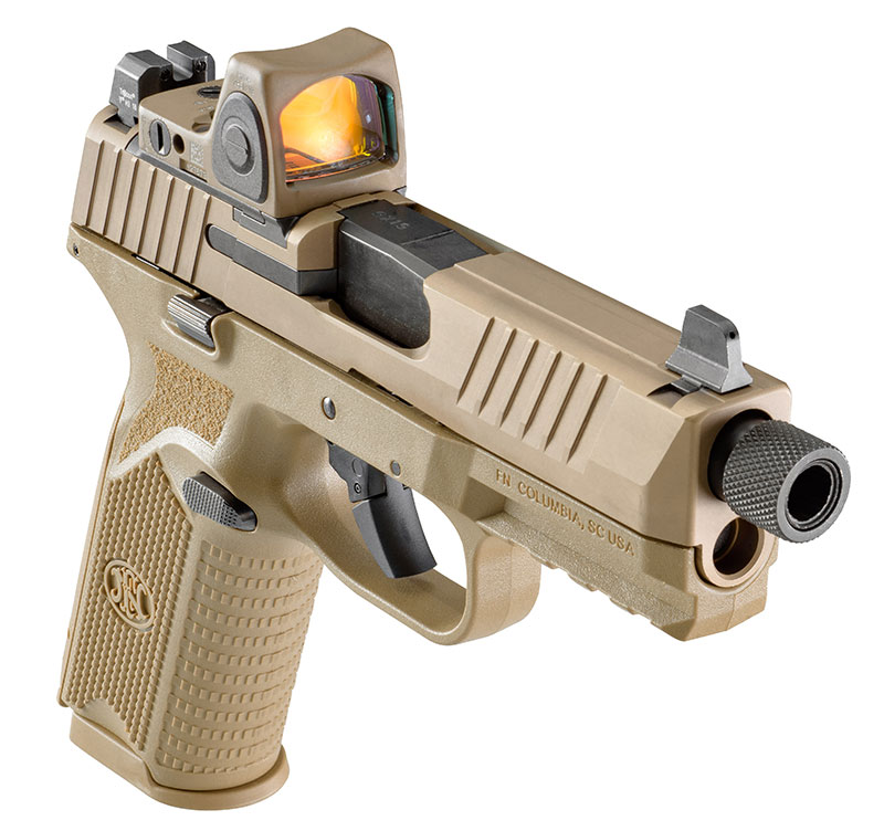 FN 509 Tactical is reflection of evolution of handguns sporting threaded barrels and need to accommodate red-dot optics. Photo: FN