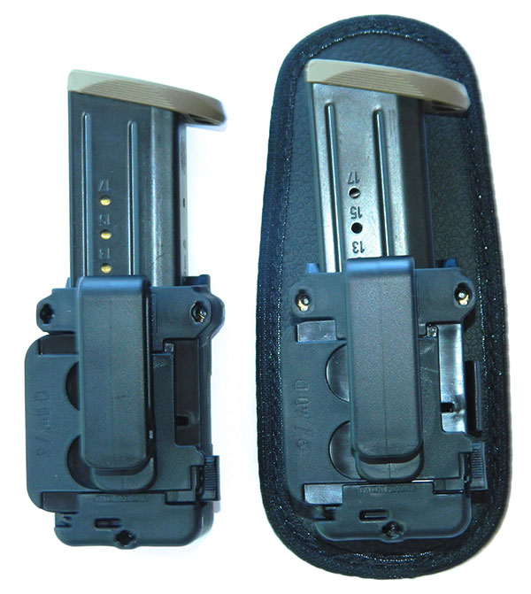 Cloak Mag holster can be worn either inside or outside the waistband by removing the neoprene body shield.