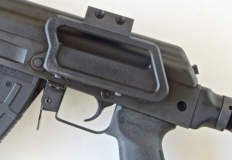 Very well-designed and sturdy Red Army Standard side mount for optics.