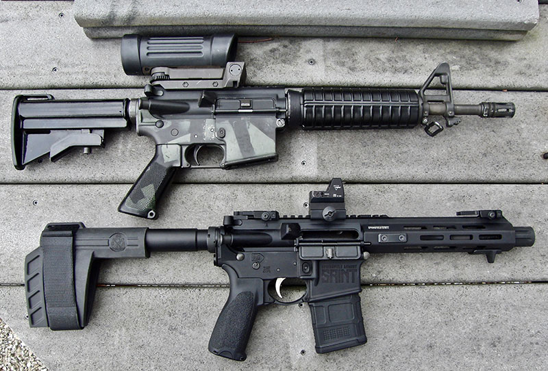 SAINT is virtually as compact as a Colt Commando but without NFA requirements.