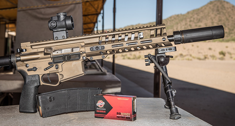 POF-USA P415 Edge Pistol with Dead Air Armament Sandman-K suppressor.