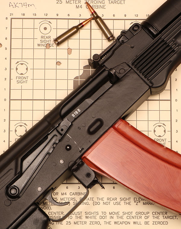 AK-74 is utterly reliable yet not nearly as precise as M16.