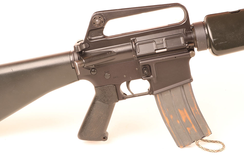 Ergonomics of M16 family of rifles sets the standard for everyone else. In experienced hands, nothing runs faster.