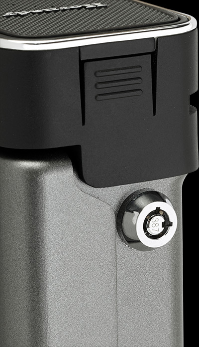 RAPiD Vehicle Safe is equipped with manual barrel lock that also provides access to safe's interior. Two barrel keys are included. Photo: Hornady