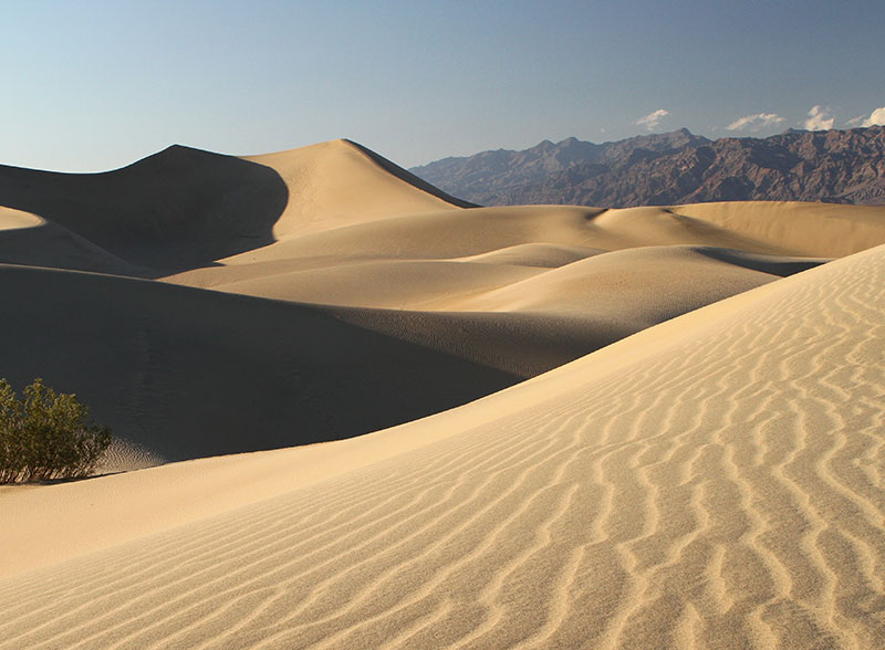 Extreme dryness and high winds are two characteristics of the southwestern deserts. Imagine trying to cross this barren landscape without the proper skills, clothing, and mindset, not to mention water.