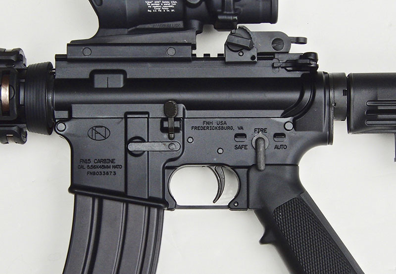 """Even though """"AUTO"""" setting is inoperable since FN M4 is a semi-auto, it does have the military-type selector for GI appearance."""