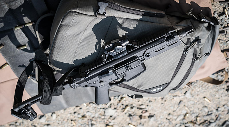 With stock folded, MCX Rattler SBR fits into small backpack or briefcase. It's ideal for situations where discreteness is paramount and rifle-caliber performance is necessary.