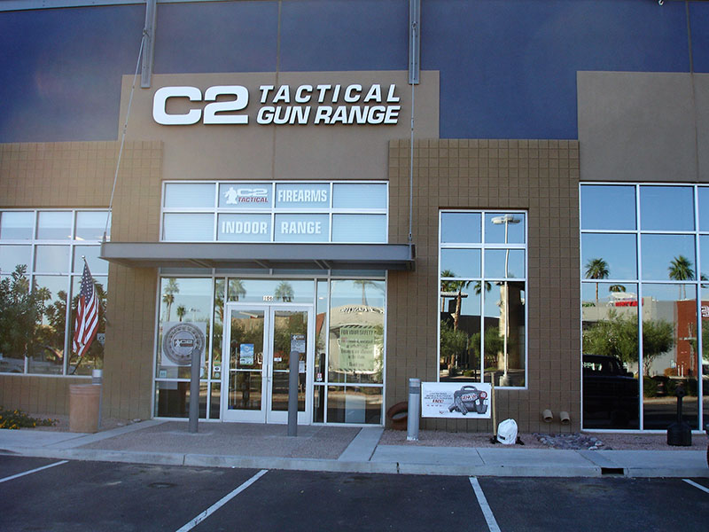C2 Tactical in Tempe, Arizona, where author conducted range testing of MCX Rattler SBR. It also now has a Scottsdale location. C2 Tactical is a SIG Sauer Elite Dealer and has been voted Arizona's Best Indoor Range. Photo: author