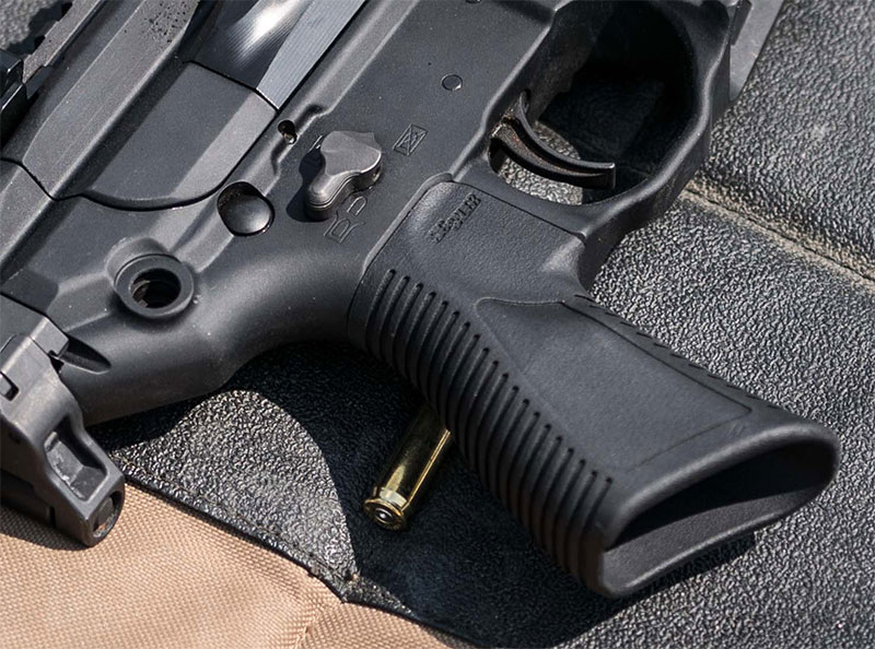 MCX Rattler comes standard with unique SIG-designed grip more vertical in angle than standard AR grips. Grip has been designed specifically for MCX Rattler to provide better control of compact platform and additional comfort when held close to the body.
