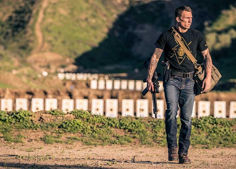 Men's Defender-Flex Straight Jean. Defender-Flex line is designed to provide low-vis tactical without sacrificing performance. Photo: 5.11 Tactical