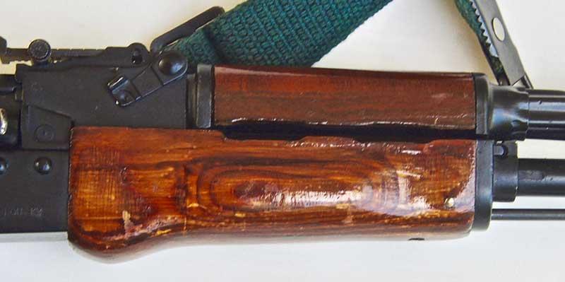 Maadi's handguards are also proper laminated wood type.