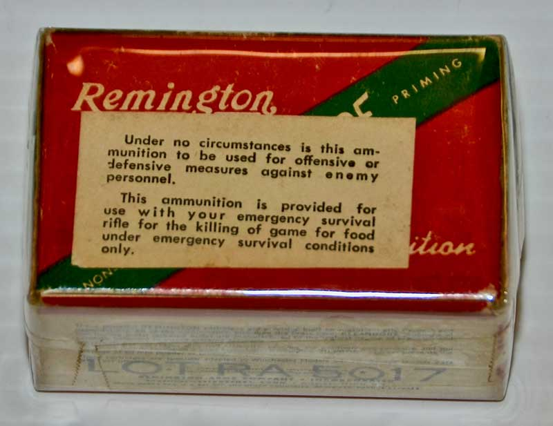 Ammunition for the M4, with the warning that it was not to be used to shoot enemy troops! Photo: Jeff Moeller & Mike Spradlin