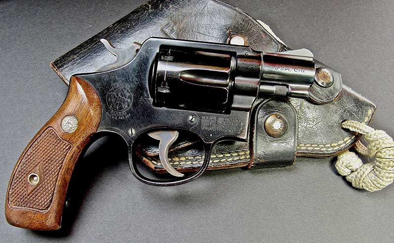 M4 was meant to supplement self-defense weapons such as this S&W Aircrewman revolver, an M&P with two-inch barrel with alloy frame and cylinder.