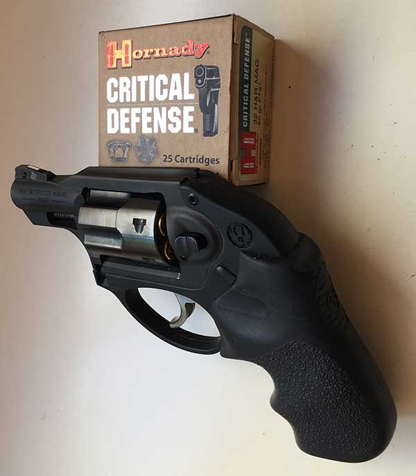 """Hornady 80-grain FTX round is mildest jacketed bullet fired by author. While it was not fired at live game, given its membership in Hornady's """"purpose developed"""" family of Critical Defense ammo, it should do well in Ruger's snubby."""