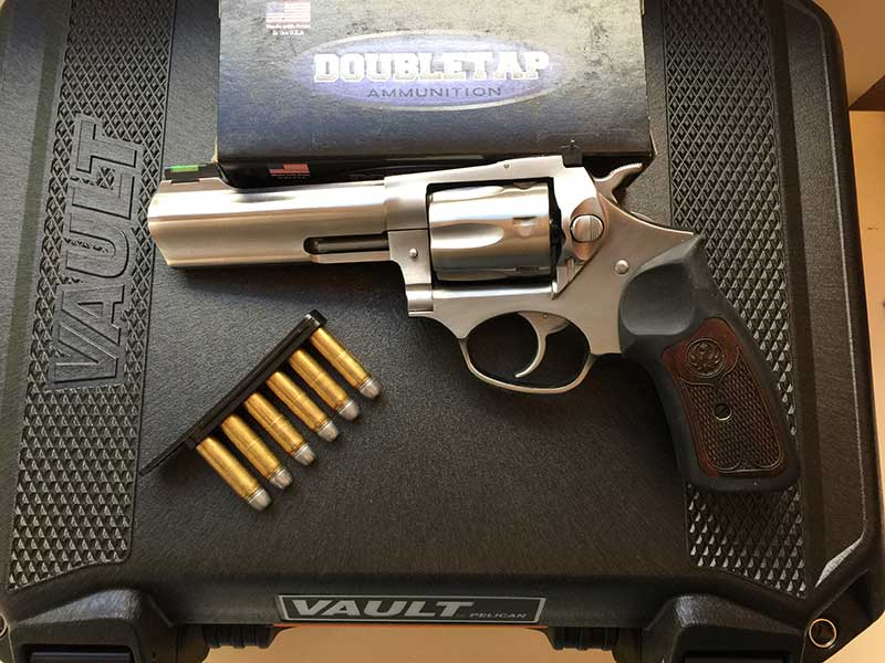 If you want serious power from .327 Magnum, DoubleTap's heavy bullets deliver, while stainless Ruger SP101 keeps you comfortable.