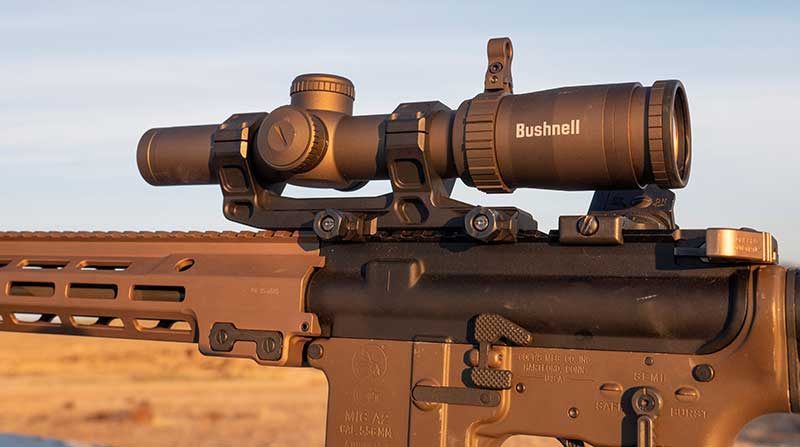 Designed for 3-gun matches, Bushnell Elite Tactical SMRS II Pro has incredibly clear glass, and BDC lined up perfectly on 200-yard zero.
