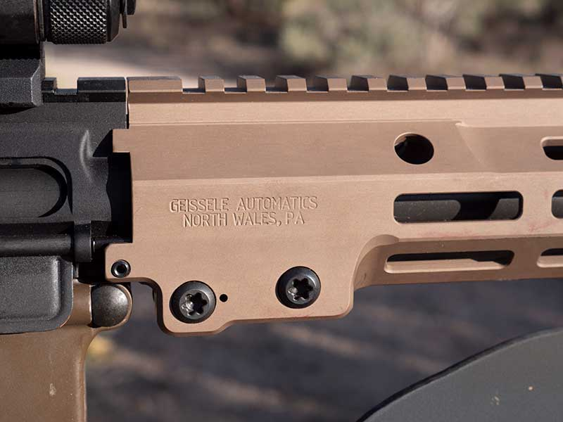 Geissele designed this handguard so it will not move, shift, or rotate even with SOCOM accessories needed to rule the night.