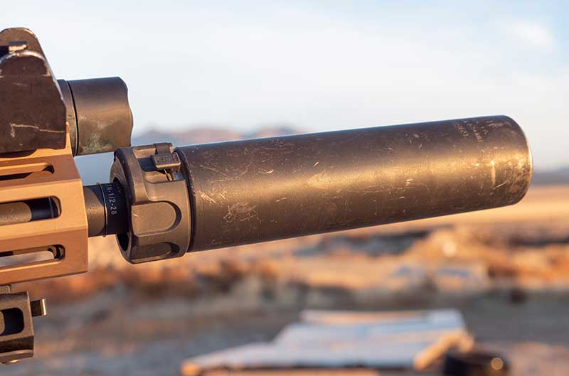 Designed as an improved upper for the M4, URGI is set up to perform well using SureFire RCT SOCOM suppressor.