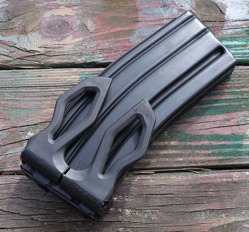 Cyre Precision MagClip lets you clip a spare magazine virtually anywhere on your kit, belt, or pants pocket, giving very fast access to a spare magazine.