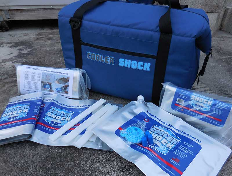 Cooler Shock Ice Packs are a high-performance ice alternative that save money, weight, space, and hassle. You can buy them ready to use, or fill them with water when they arrive.