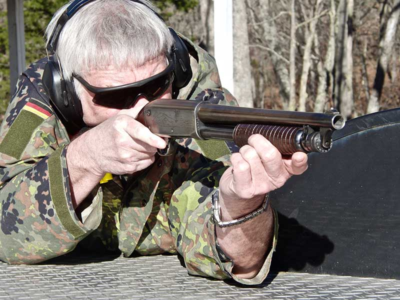 Fourteen-inch SBS Ithaca 37 is fast and extremely handy because it has no trigger disconnect.