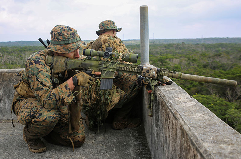 Something is usually available to barricade from. This Marine sniper is using the front of the bipod on his M110 to gain support. USMC Photo by LCpl Mains