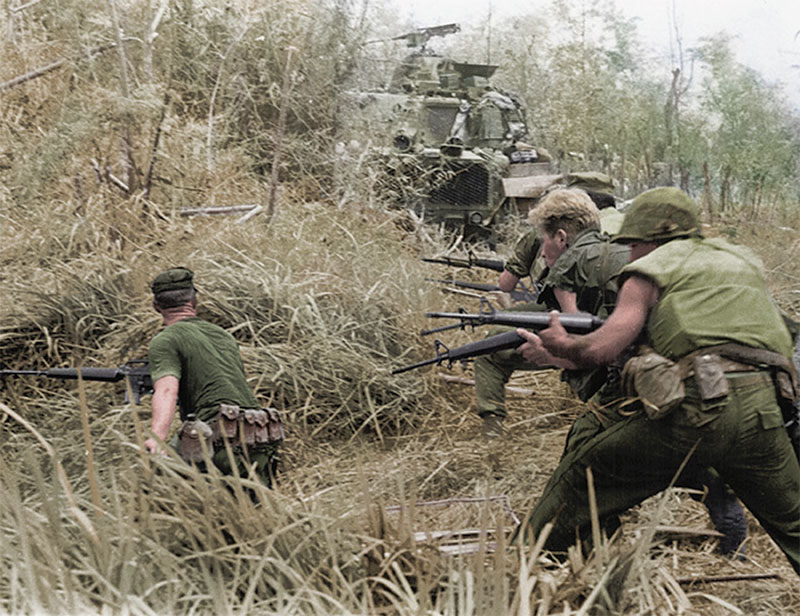 M16 was thrown into combat in Vietnam without adequate tweaking. Subsequent failures in action called into question the validity of small-caliber Infantry rifles.